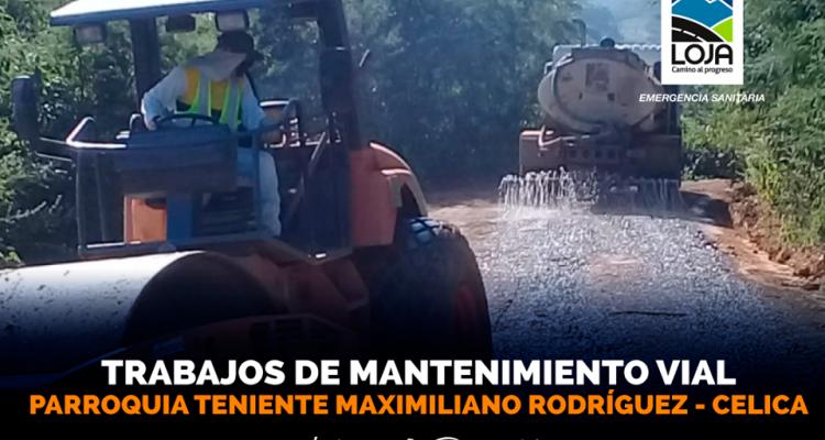 TRABAJOS DE MANTENIMIENTO VIAL EN LA PARROQUIA.